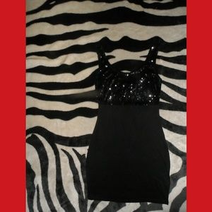 Forever 21 Little Black Sequence Dress Sexy